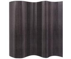 vidaXL Biombo divisor de bambú gris 250x195 cm