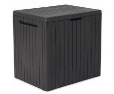 Keter Caja de almacenaje City antracita aspecto madera 241869