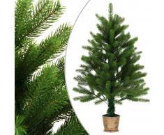 vidaXL Árbol de Navidad artificial con cesta verde 90 cm