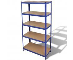 vidaXL Estante de almacenamiento azul