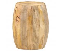 vidaXL Taburete en forma de tambor madera maciza de mango
