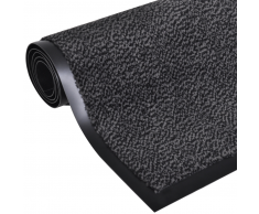 vidaXL Alfombra cuadrada gris antracita antideslizante 180x120 cm