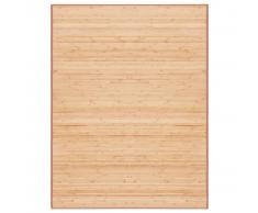 vidaXL Alfombra de bambú 150x200 cm marrón