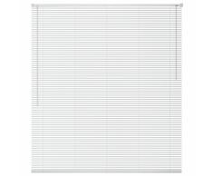 vidaXL Persiana aluminio 60x160 cm blanca