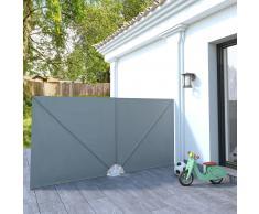 vidaXL Toldo de jardín plegable 300x150 cm gris