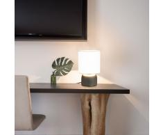 vidaXL Lámparas de mesa táctiles 2 unidades blanco E14