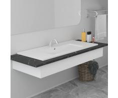 vidaXL Lavabo encastrado de cerámica blanco 100,5x46,3x17,5 cm