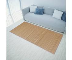 vidaXL Alfombra rectangular de bambú marrón 120x180 cm