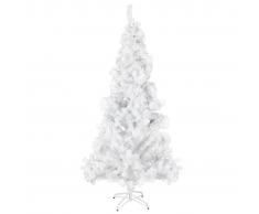 vidaXL Árbol de navidad artificial con soporte acero 210 cm 910 ramas