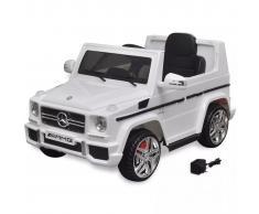 vidaXL Coche eléctrico bimotor de juguete Mercedes Benz G65 SUV blanco