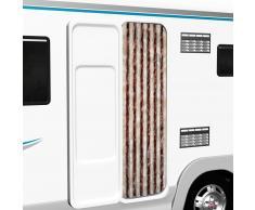 vidaXL Cortina mosquitera de chenilla beige y marrón claro 56x185 cm