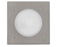 EGLO Aplique de pared LED exterior Lamedo 2,5 W cuadrado plata 93481