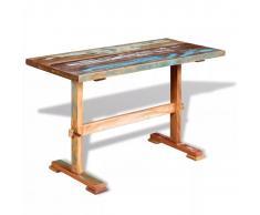 vidaXL Mesa de comedor pedestal madera maciza acacia 120x58x78 cm