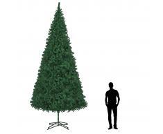 vidaXL Árbol de Navidad artificial verde 500 cm