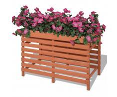 vidaXL Jardinera de madera 100x50x71 cm