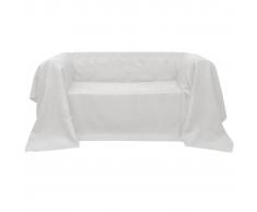 vidaXL Funda color crema para sofá de micro-gamuza, 140 x 210 cm