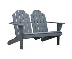 vidaXL Silla Adirondack doble madera gris