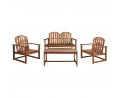vidaXL Set de muebles de jardín 4 piezas madera maciza de acacia