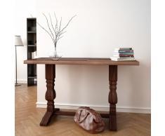vidaXL Mesa consola de pedestal madera maciza reciclada 100x40x75 cm