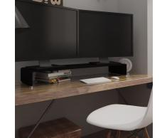 vidaXL Soporte para TV/Elevador monitor cristal negro 110x30x13 cm
