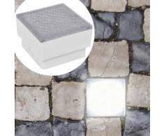 vidaXL Foco LED empotrable para el exterior, 100 x 100 x 68 mm