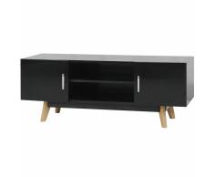 vidaXL Armario de TV Brillo Alto Color Negro Dimensiones 120x40x46 cm MDF