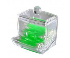 TRIBALSENSATION Titular hisopo de algodon - Caja cosmetica de almacenamiento de maquil
