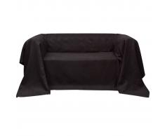 vidaXL Funda marrón para sofá de micro-gamuza, 270 x 350 cm