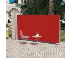 vidaXL Toldo lateral de jardín o terraza 180 x 300 cm rojo