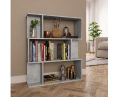 vidaXL Estantería/divisor espacios aglomerado gris cemento 80x24x96 cm