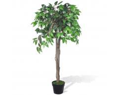 vidaXL Árbol/ Planta de ficus artificial en maceta, 110 cm