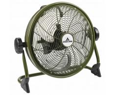 Bestron Ventilador de suelo para exterior recargable AOD12ACCU verde