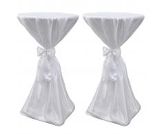 vidaXL 2 manteles blancos de 60 cm con lazo