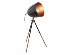 EGLO Lámpara de mesa CHESTER negra y cobre 49385
