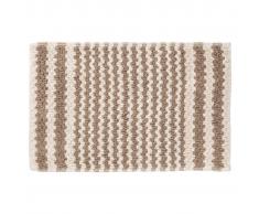 Sealskin Alfombra de baño color arena a rayas, 50 x 80 cm, 294445465
