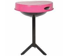 Esschert Design Mesa para barbacoa acero de carbono rosa FF250