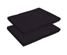 vidaXL Sábana de algodón 2 unidades 146x260 cm negra