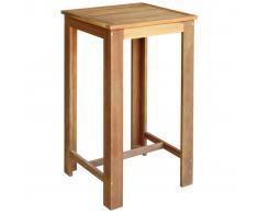vidaXL Mesa de bar de madera de acacia maciza 60x60x105 cm