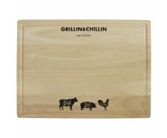 Gusta Tabla de cortar G&C 39x29x1,5 cm madera caucho 01139660