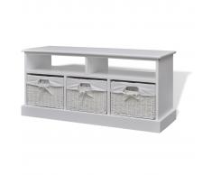 vidaXL cómoda de almacenamiento blanca Aarau
