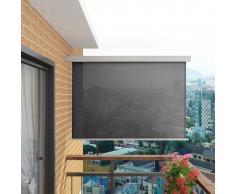 vidaXL Toldo lateral de balcón multifuncional 180x200 cm gris