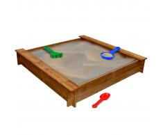 vidaXL Arenero cuadrado de madera para niños