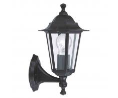 EGLO Lámpara de pared exterior Laterna 4 60 W negra 22468