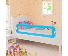 vidaXL Barandilla de seguridad cama de niño 150x42 cm azul