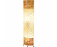 GLOBO Lámpara de suelo BALI revestimiento marrón 25826