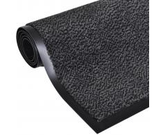 vidaXL Alfombra cuadrada gris antracita antideslizante 120x90 cm