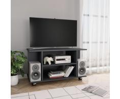 vidaXL Mueble para TV con ruedas aglomerado gris 80x40x40 cm