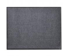 vidaXL Alfombra de entrada de PVC gris, 90 x 60 cm
