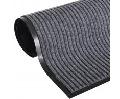 vidaXL Alfombra de entrada PVC gris, 90 x 60 cm