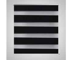 vidaXL Persiana Cebra 120 x 175cm Negro